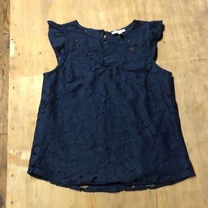 Navy Lace Shirt